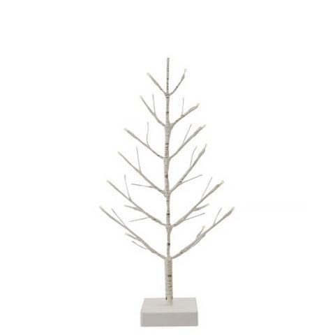 White Pre-Lit Twig Tree