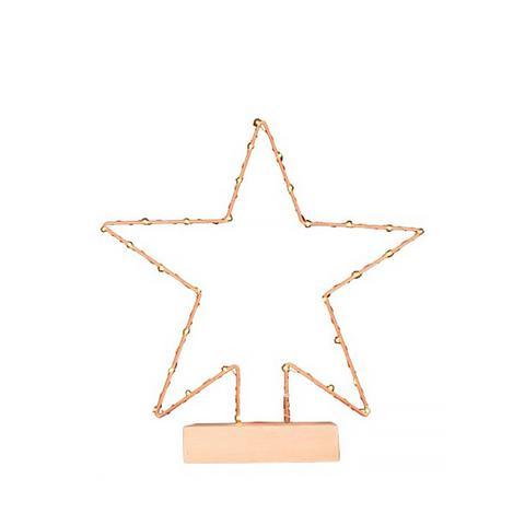 Lit Copper Star