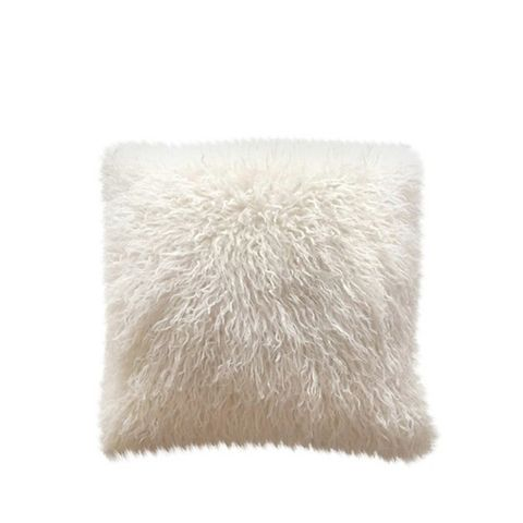 Mongolian Faux Fur Decorative Pillow