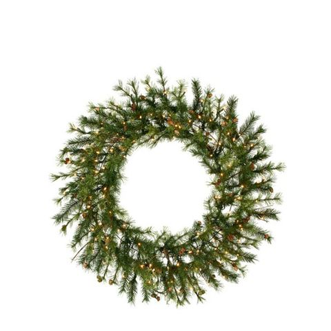 Pre-Lit Mixed Country Pine Wreath