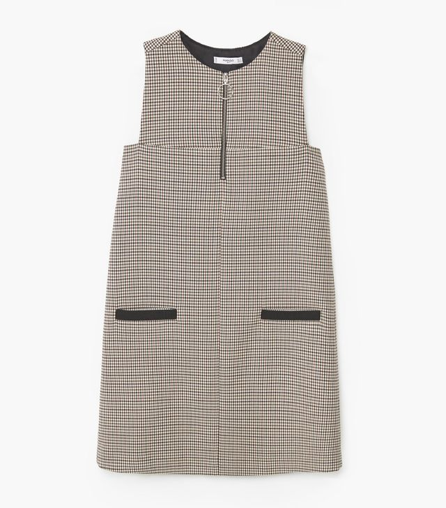 Mango Two-Pocket Check Dress