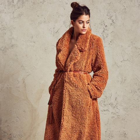 Violet Shag Coat