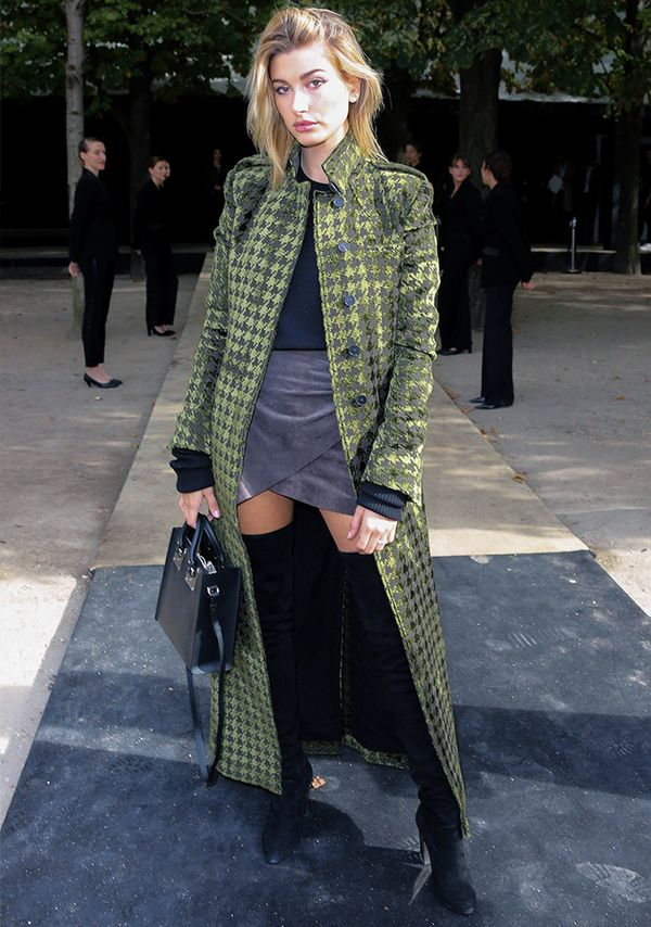 Style Notes: In case you don't know, Haider Ackermann is one of the most exclusive brands in the world—and Miss Baldwin rocked up to Paris Fashion Week in this absolutely stunner of a coat...