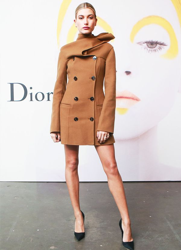 Style Notes:If it ain't broke, don't fix it—that's precisely the right attitude when it comes to wearing a gorgeous Dior dress. So simple and so effortless.