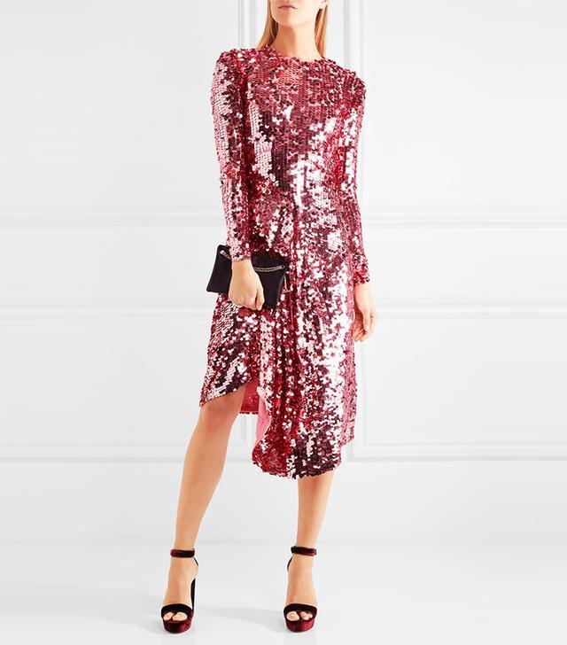 Preen by Thornton Bregazzi Carlin Sequin-Embellished Dress