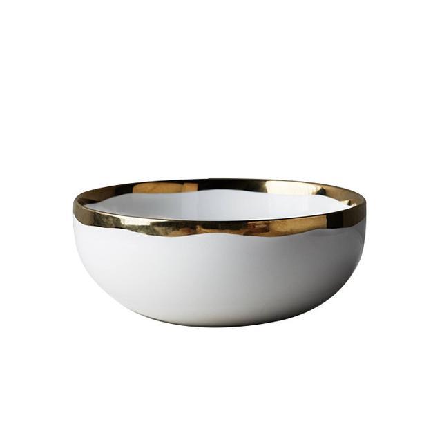 gold rimmed bowl