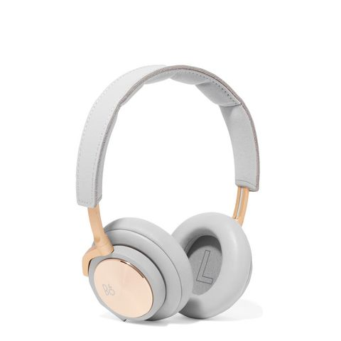 H6 Leather and Gold-Tone Headphones