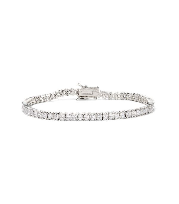 Kenneth Jay Lane Silver-Plated Cubic Zirconia Bracelet