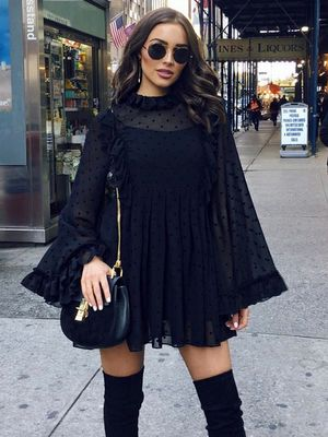 The Holiday Party Look for Girls Who Wear All Black