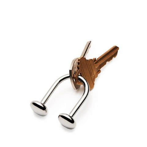 U Key Ring - Nickel Plated Brass
