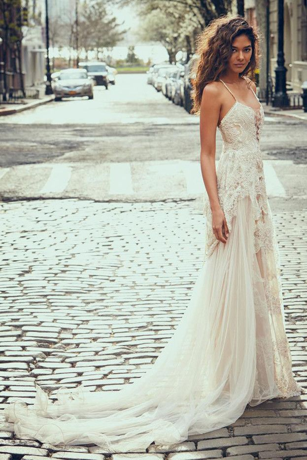 These Pretty Wedding Dresses Are A Bohemian Dream Whowhatwear