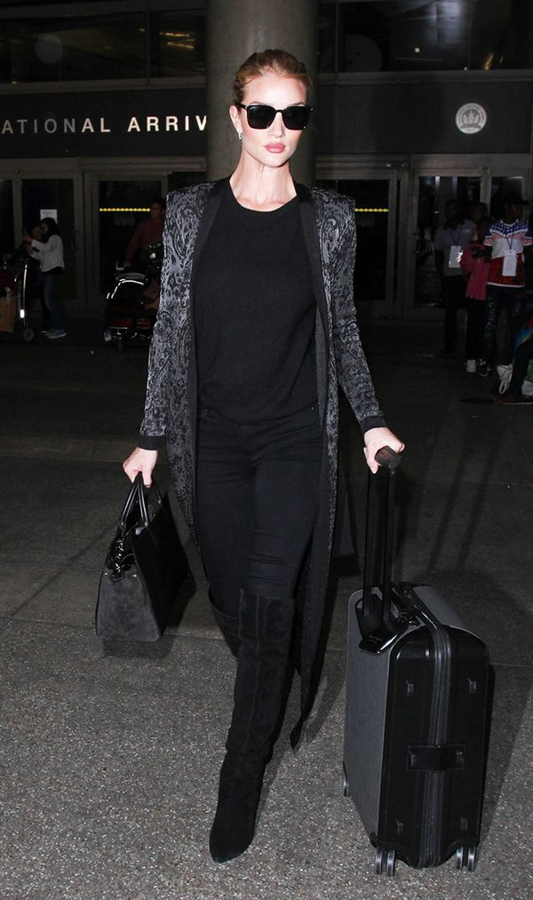 Rosie Huntington Whiteley at LAX on November 3, 2016
