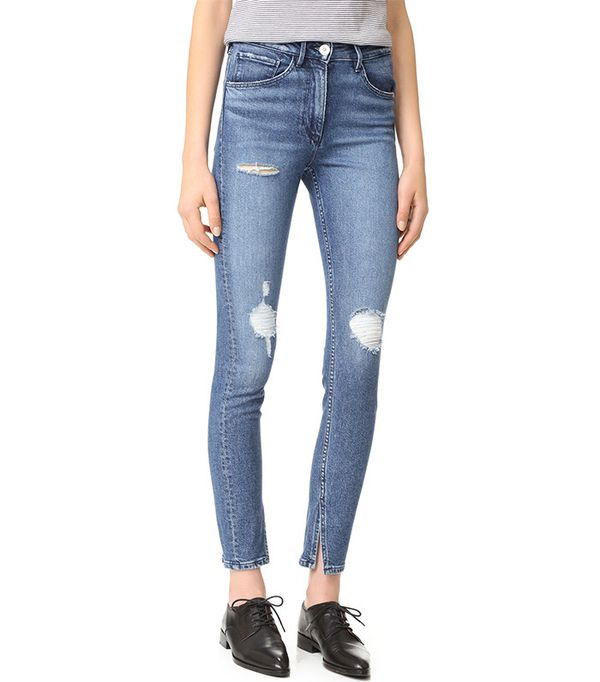 a3c59df0 ... here the rise is much higher and you would be hard-pressed to find a  low rise jean now in any pant-leg style and also notice how cropped they've  become.
