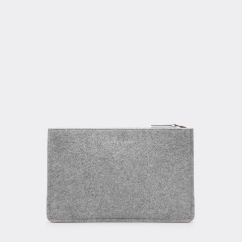Grey Felt Clutch