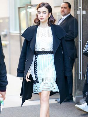 Lily Collins Just Wore Every Fashion Girl's Favorite Dress Line