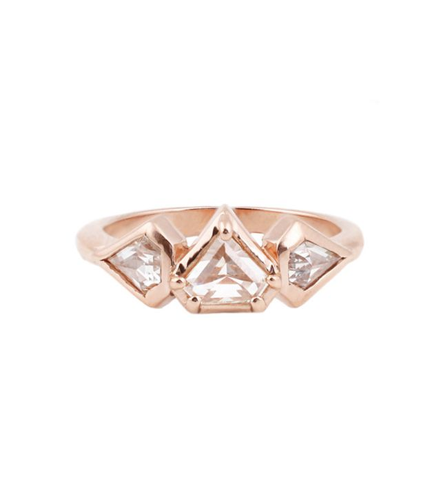 Lauren Wolf Jewelry The Rose Gold Prism Ring