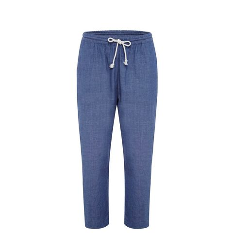 Relaxed Chambray Pants