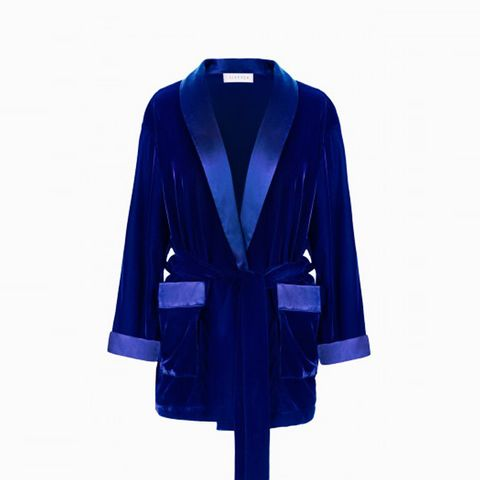 Yves Klein Blue Velvet Robe