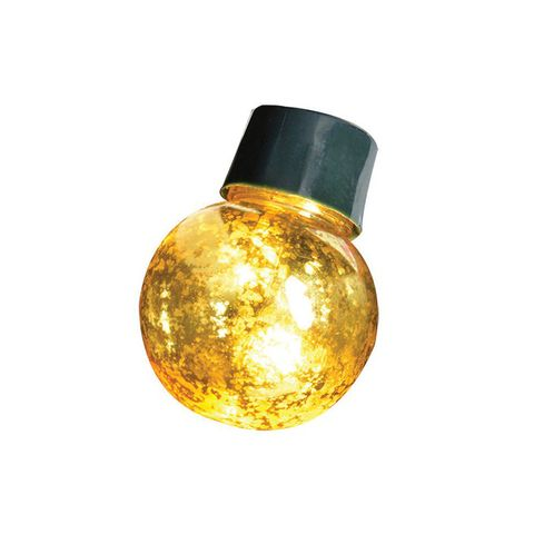 20 LED Gold Crackle Ball Lights