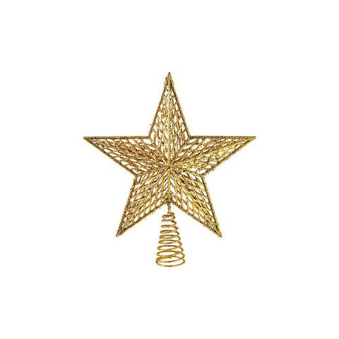 Gold Glitter Wire Tree Star