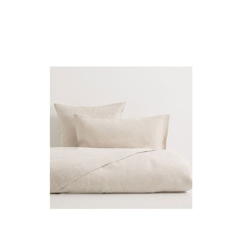 Linen Natural Color Faded Duvet Cover, King