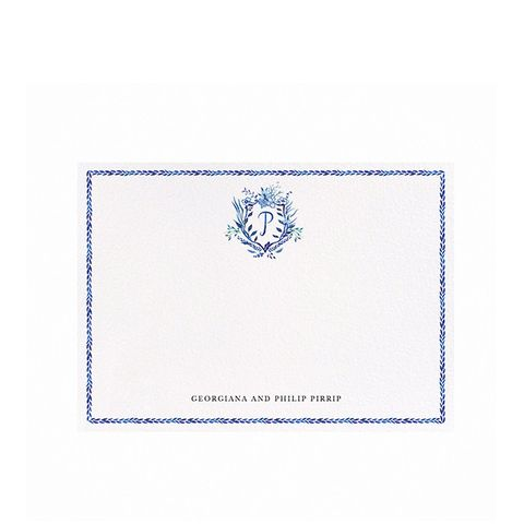 Happy Menocal Crest Stationary Cards