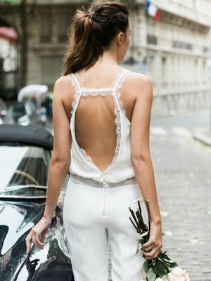Gorgeous Bridal Jumpsuits That'll Convince You to Skip the Dress