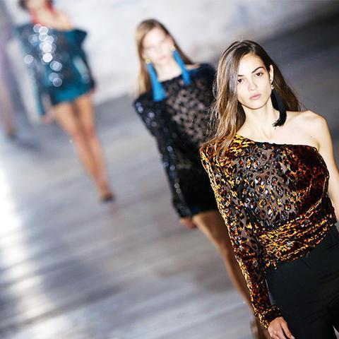 fashion predictions 2017: one shoulder tops at Saint Laurent