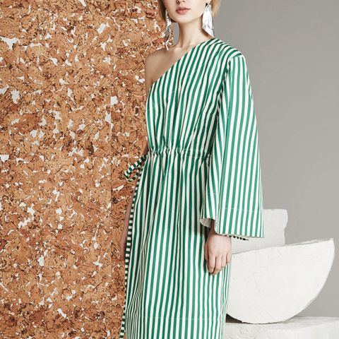Aylin Green Stripe Dress