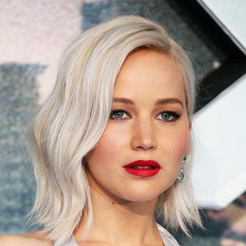 Hair colour ideas: Jennifer Lawrence with platinum hair