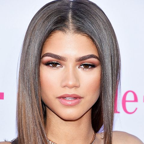 Hair colour ideas: Zendaya with brown hair and lighter ends