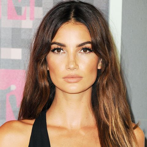 Get inspired by Lily Aldridge's hair colour idea of slight ombre