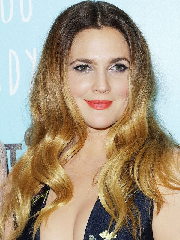 Drew Barrymore's classic ombre is a great hair colour idea that suits all faces and skin tones