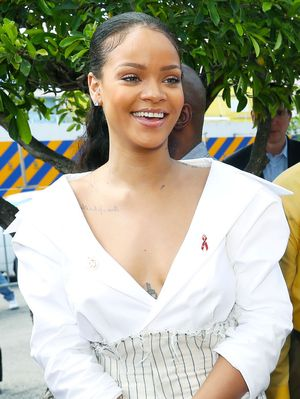 Rihanna Wore the Chicest Outfit to Meet Prince Harry