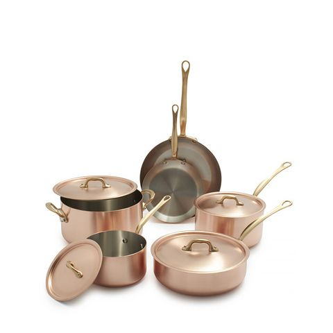 M'brushed Copper 10-Piece Cookware Set