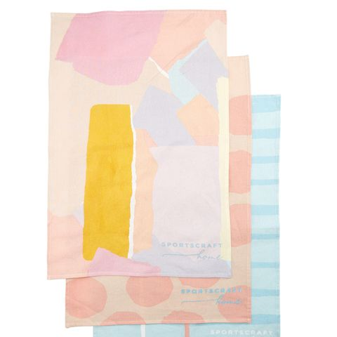 Leah Bartholomew Tea Towels - 3 Pack Printed
