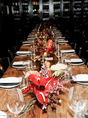 Inside a Rustic Holiday Party With a Chic European Vibe