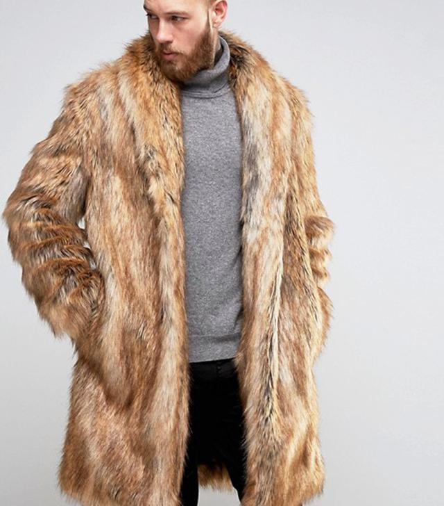 Fur coat asos