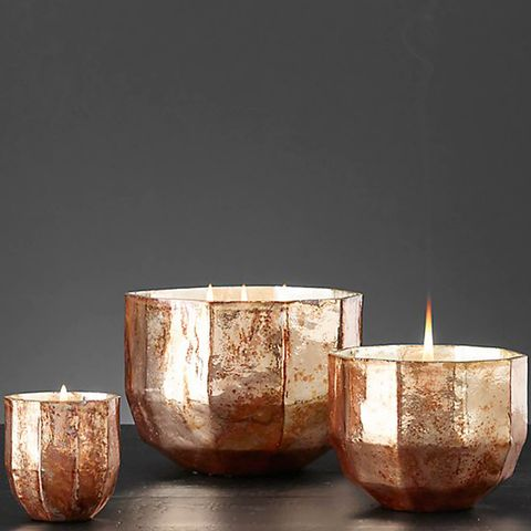 Mercury Glass Luxury Candle Collection