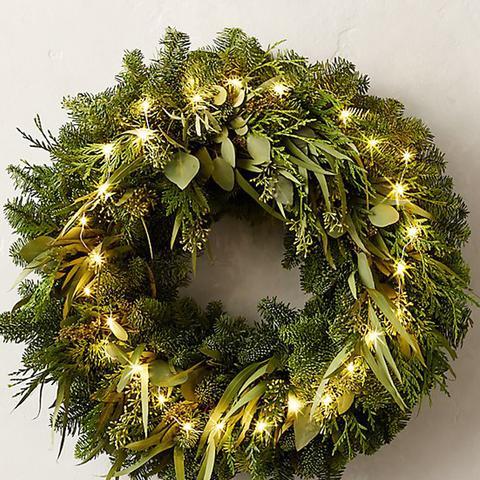Fresh Cut Wreath Noble Fir & Eucalyptus