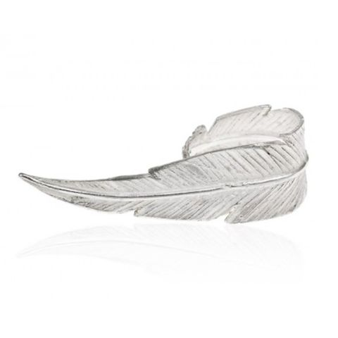 Breeze Large Feather Ring- Silver