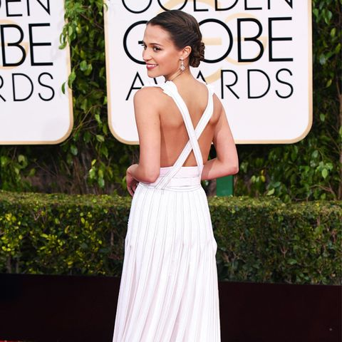 best red carpet dresses 2016: Alicia Vikander Golden Globes