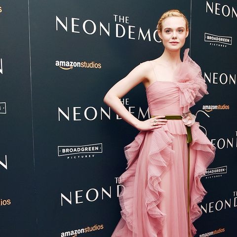 best red carpet dresses 2016: elle fanning gucci neon demon