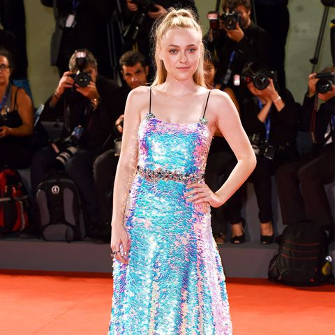 best red carpet dresses 2016: Dakota Fanning Venice Film