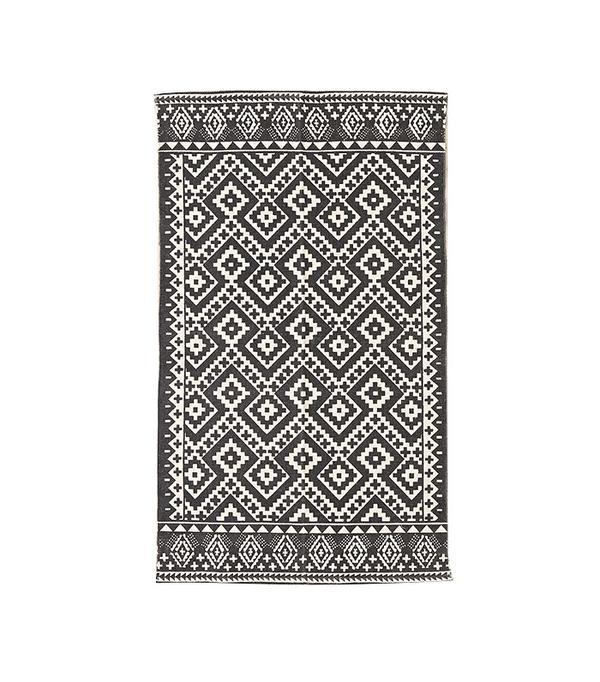geo printed rug
