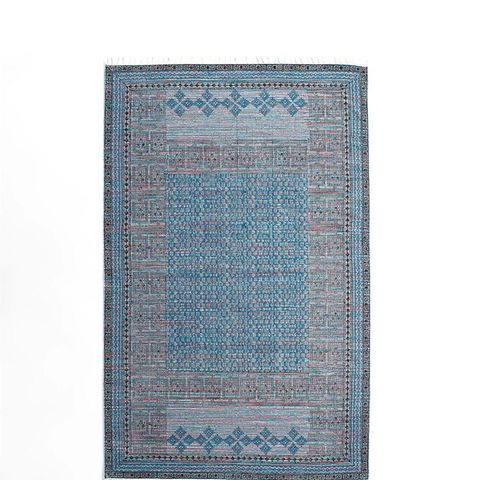 5'x8' Block Print Cotton Soumil Area Rug