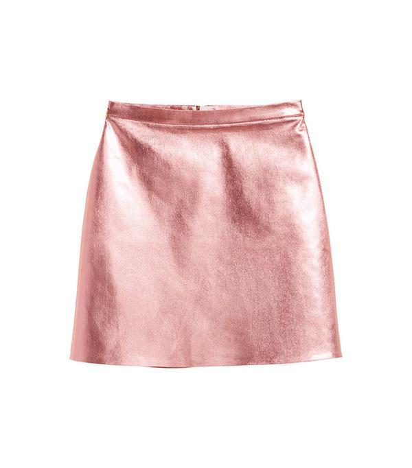H&M Coated Skirt