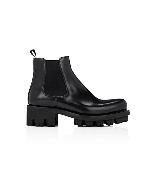 Prada Lug-Sole Platform Chelsea Boots