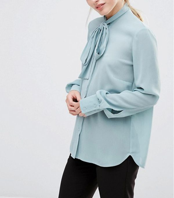 Alter Blouse with Tie Neck