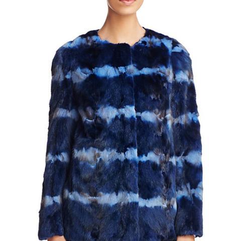 Tie Dye Mink Fur Coat